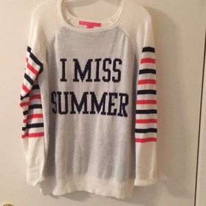 "Rebellious One ""I MISS SUMMER"" sweater"